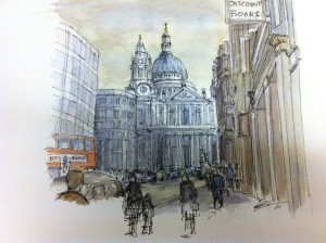 St Paul's Cathedral from Ludgate Hill