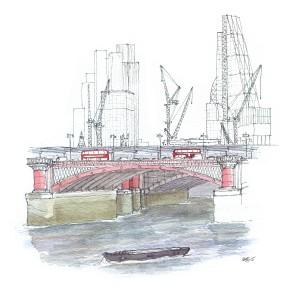 The Thames, Blackfriars